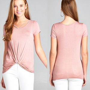 TERRI Twist Knot Top - BLUSH